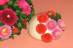 Bolo cozinhado flor fotos de stock royalty free
