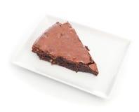 Bolo da brownie do chocolate fotos de stock