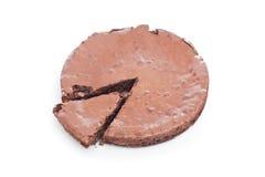 Bolo da brownie do chocolate imagem de stock