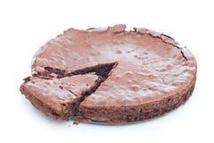 Bolo da brownie do chocolate foto de stock royalty free