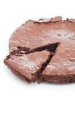 Bolo da brownie do chocolate foto de stock