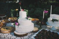 Bolo da cerimônia de casamento imagem de stock royalty free