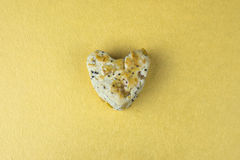 Bolo 1 da cookie do coração Fotografia de Stock Royalty Free