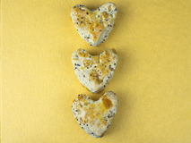 Bolo 2 da cookie do coração Imagens de Stock