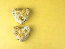 Bolo 4 da cookie do coração Imagens de Stock