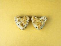 Bolo 3 da cookie do coração Fotografia de Stock