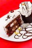 Bolo da fantasia do chocolate Imagens de Stock Royalty Free