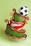 Bolo da fantasia do futebol Imagem de Stock Royalty Free