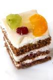 Bolo da fruta de sobremesa com atolamento imagem de stock royalty free