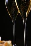 Bolo da fruta de sobremesa com champanhe Fotografia de Stock Royalty Free