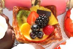 Bolo da fruta fresca Imagens de Stock Royalty Free