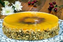 Bolo da geleia de fruto com pêssego Imagens de Stock