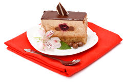 Bolo da musse de chocolate foto de stock royalty free