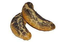 Bolo da pastelaria curto polvilhada com as sementes de papoila fotos de stock royalty free