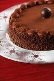 Bolo da trufa de chocolate Imagens de Stock