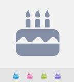Bolo de aniversário - ícones do granito ilustração do vetor