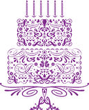 Bolo de aniversário imagem de stock royalty free