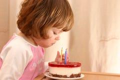 Bolo de aniversário Fotos de Stock