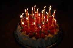Bolo de aniversário Fotografia de Stock