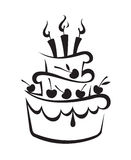 Bolo de aniversário Foto de Stock Royalty Free