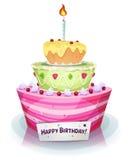 Bolo de aniversário ilustração stock