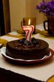 Bolo de aniversário Foto de Stock