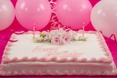 Bolo de aniversário Fotos de Stock Royalty Free