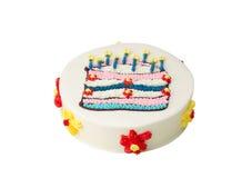 Bolo de aniversário colorido delicioso foto de stock royalty free