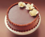 Bolo de aniversário do chocolate Fotografia de Stock Royalty Free