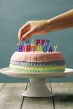 Bolo de aniversário do Pinata Foto de Stock Royalty Free