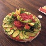 Bolo de aniversário do sushi Fotos de Stock Royalty Free