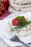 Bolo de arroz com queijo creme Fotos de Stock