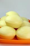 Bolo de arroz cozinhado quente isolado imagens de stock royalty free