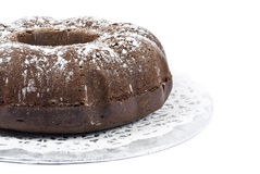 Bolo de Bundt do chocolate Fotos de Stock