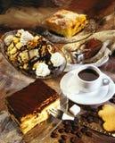Bolo de café Fotografia de Stock