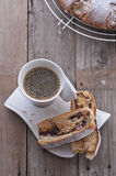 Bolo de café do aç6frão Imagem de Stock