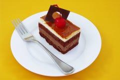 Bolo de café do chocolate Imagem de Stock Royalty Free