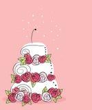 Bolo de casamento ilustração stock