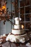 Bolo de casamento fotografia de stock