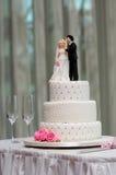 Bolo de casamento imagens de stock