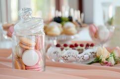 Bolo de casamento, bolo para a decoração do casamento no bolo Foto de Stock