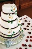 Bolo de casamento bonito Imagens de Stock Royalty Free
