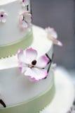 Bolo de casamento com flores Imagens de Stock
