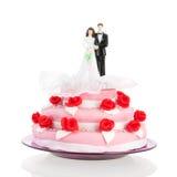 Bolo de casamento com pares Imagem de Stock