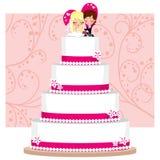 Bolo de casamento da morango Fotografia de Stock