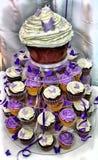 Bolo de casamento de HDR - queques do chocolate Fotografia de Stock Royalty Free