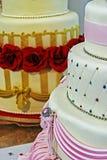 Bolo de casamento decorado especialmente. Detalhe 8 Foto de Stock Royalty Free