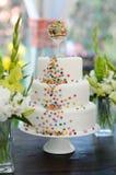 Bolo de casamento delicioso Fotografia de Stock Royalty Free