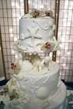 Bolo de casamento do escudo do mar Imagem de Stock Royalty Free