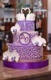 Bolo de casamento esperto Foto de Stock Royalty Free